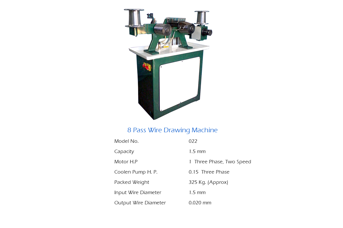 8 Pass Wire Drawing Machine